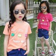 最好看便宜儿童短袖衫批发厂家直销夏天小孩子T恤衫裤子批发