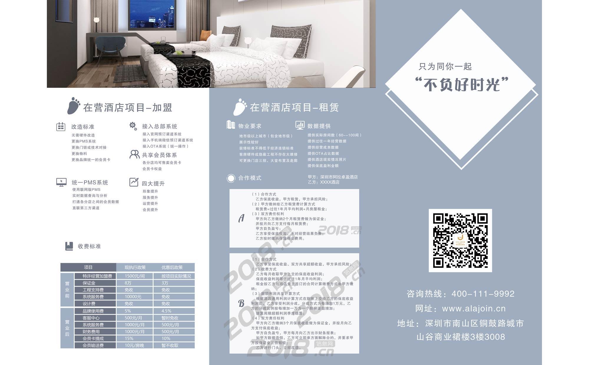 深圳阿拉卓盈酒店全茂名地区加盟招商