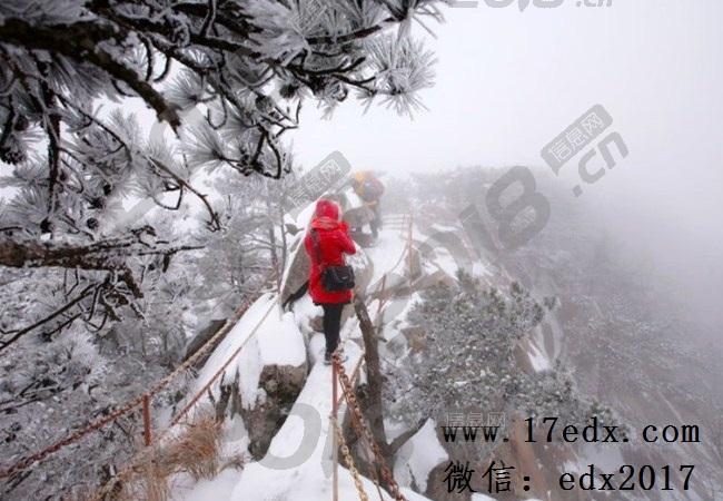 冬天武汉周边游去薄刀锋景区看雪景口碑怎么样