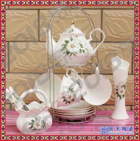 浮雕陶瓷茶杯情侣咖啡杯碟带勺礼盒套装 花茶杯具厂家直销