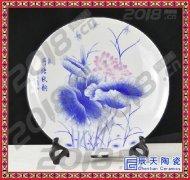 玉堂富贵陶瓷盘摆件 陶瓷纪念盘定做 陶瓷赏盘景德镇陶瓷看盘