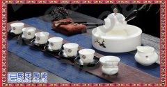 青花瓷自流水陶瓷防烫 泡茶器半自动功夫茶具茶杯 新年礼品