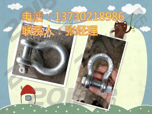 供应弓型卸扣|D型卸扣|各种卸扣型号|50T|100T