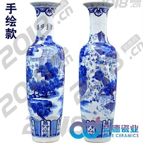 落地摆设陶瓷大花瓶 定制3米大花瓶落地大花瓶定制厂家