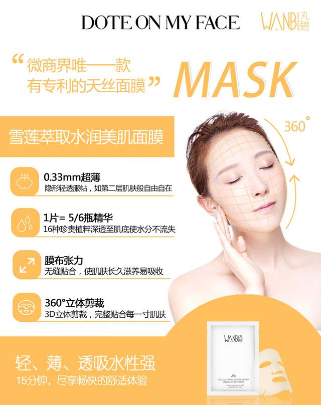 丸碧雪莲水润美肌面膜能够有效缓解面部肌肤问题_可加盟