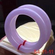 玉名坊翡翠 紫罗兰翡翠手镯 圆条一对 细腻水润 高贵优雅